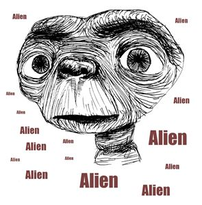E.T. SF Movie Character