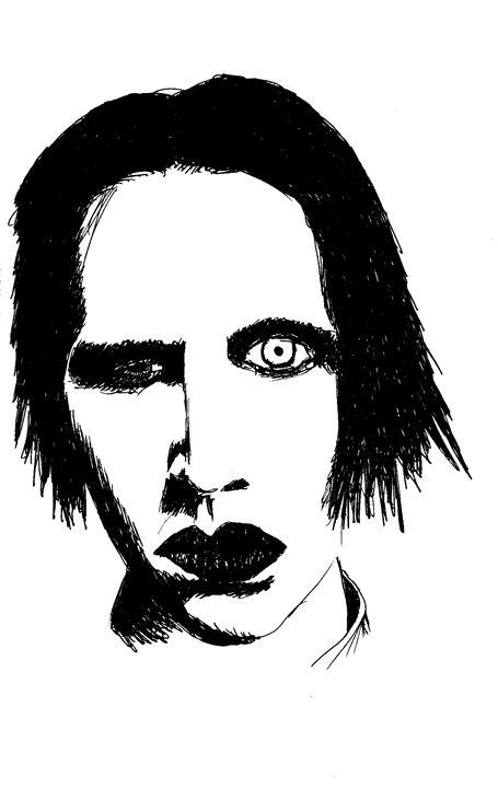 Marilyn Manson - Printable Drawings