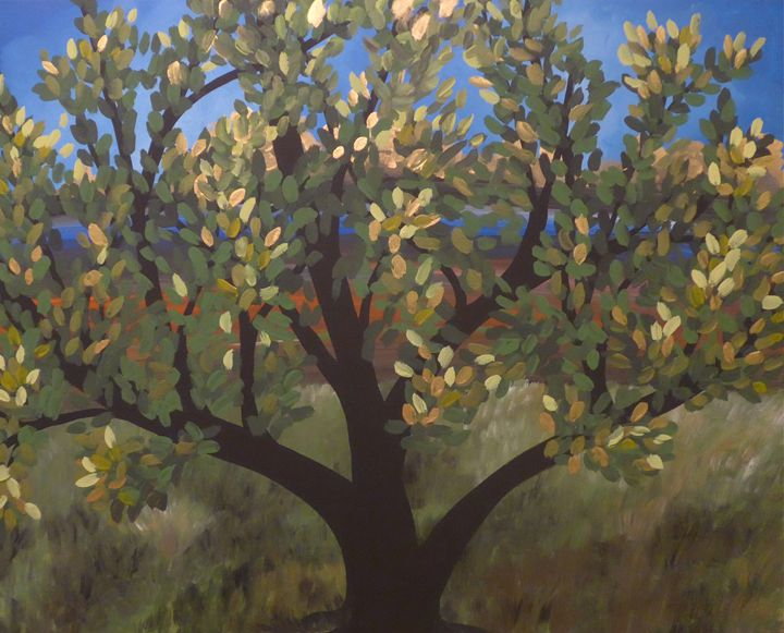 Under my Tree - Sue and Frank's Art Gallery