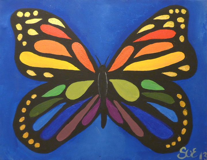 Rainbow Butterfly - Sue and Frank's Art Gallery