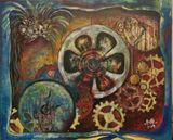 Acrylic and Acrylic Medium on Canvas