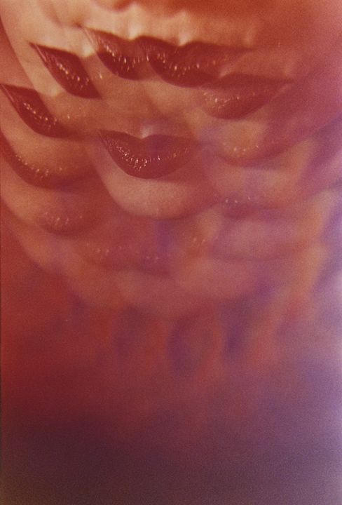 Sensual red lips surrealist photo - edwardolive