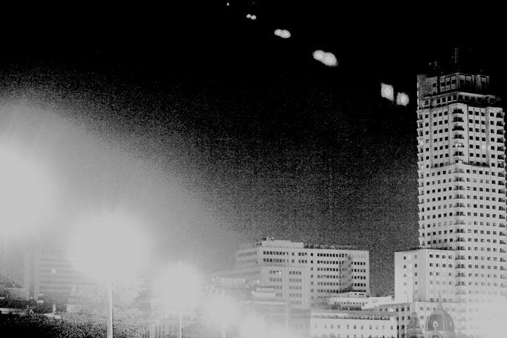 Madrid Spain city skyline at night - edwardolive