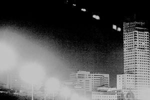 Madrid Spain city skyline at night