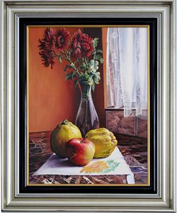 Chrysanthemums and Fruits