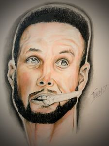 Stephen curry portrait
