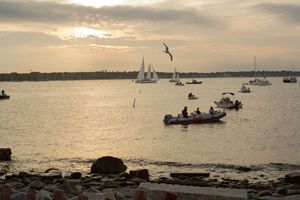 Sunset on Newport