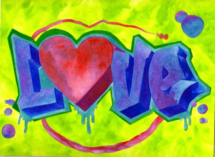 ABSTRACT LOVE GRAFFITTI - CUSTOM ART MASTERPIECES