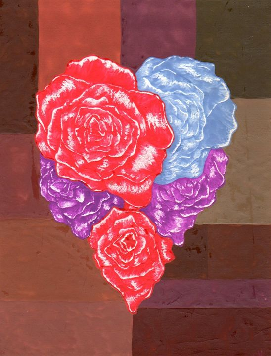 ROSES HEART - CUSTOM ART MASTERPIECES
