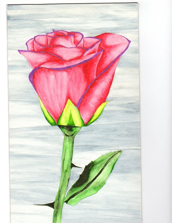 RED ROSE WATERCOLOR - CUSTOM ART MASTERPIECES