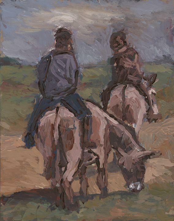 Horse riders - Fikile Mqhayi art world