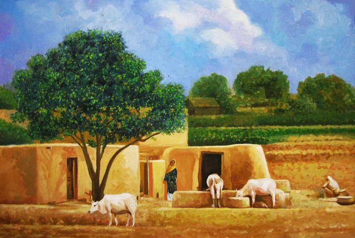 Village Life Pakistan - Pakistan Art Museum