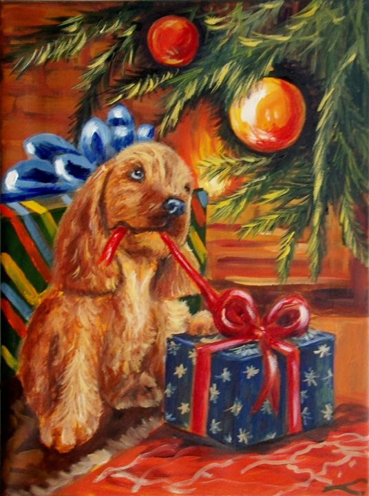 Christmas present - Elena Sokolova art