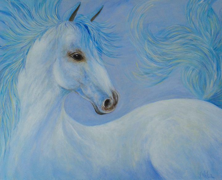 """""""White Horse in Blue"""" - Nika Andreiko"""