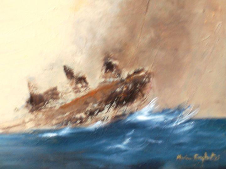 ' Boat in storm' - Marina_Emphietzi art Gallery