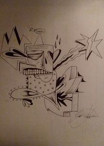 Pen on paper art one of a kind