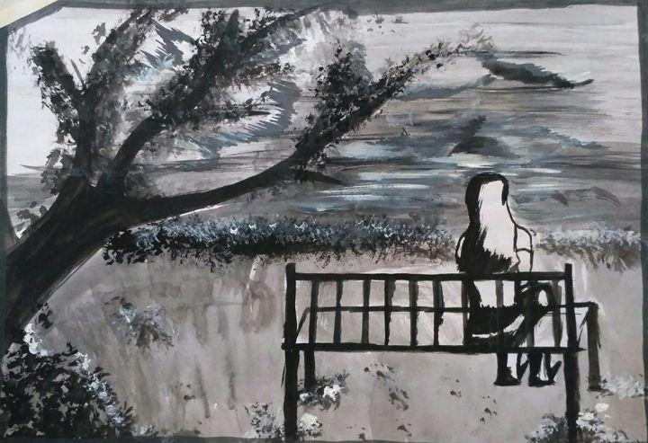 sitting alone - Pooja Singh