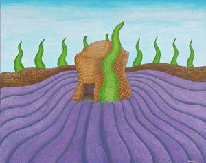 Lavender field acrylic 1, France