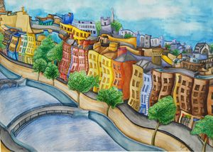 Liffey River and the quays, Dublin