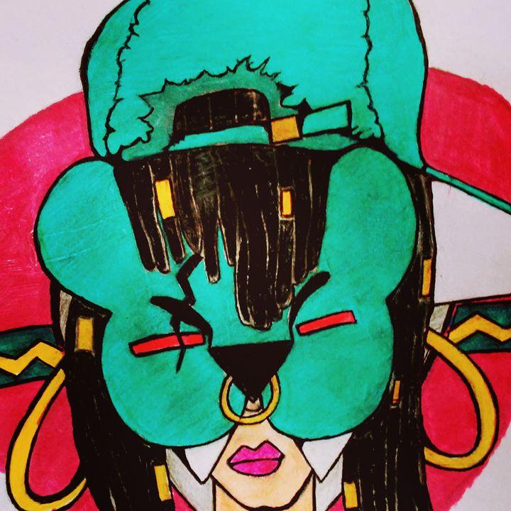 Tribal queen with mask - Jonesoffspring