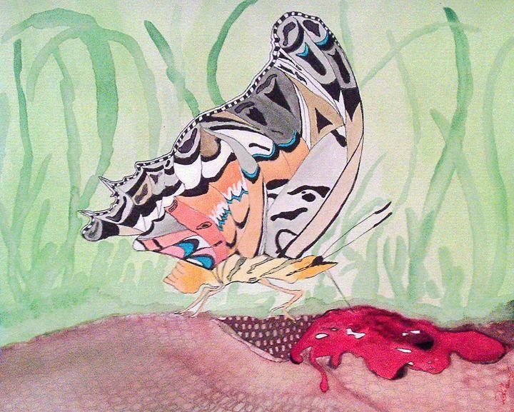 Butterflys love blood - Deimante Kajataite