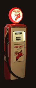 GAS PUMP FIRE CHIEF