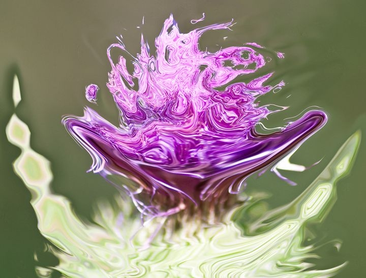 floating lilac on light green - brunopaolobenedetti