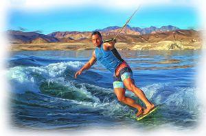 Skurfing  Lake Mead
