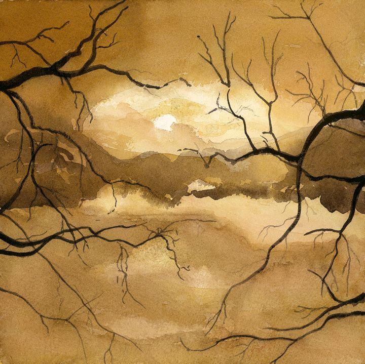Moonlit Sky by Grace Fong - Wineries & Landscapes by Grace Fong