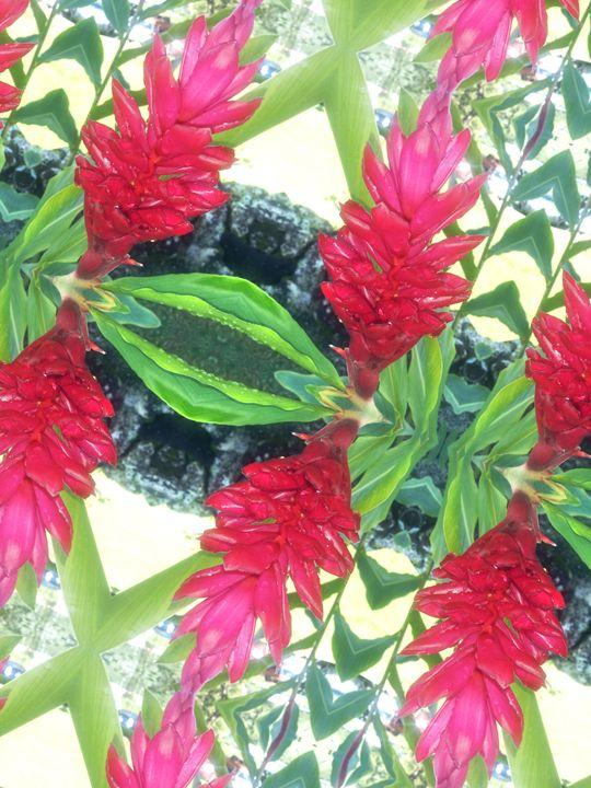 Aloha Print - Red Ginger - Boogiba