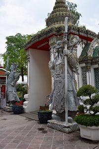 Wat Po guardian statues Bangkok - RCRayner