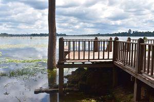 Neak Pean lake wharf