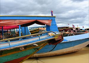 Tonle Sap Lake Cambodia tour boats