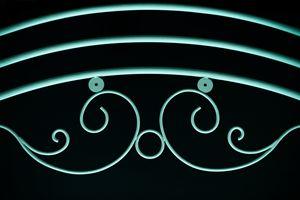 green fence ornamental elements on b