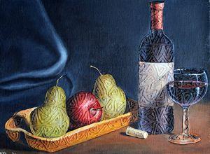 Still life (wine and fruit)