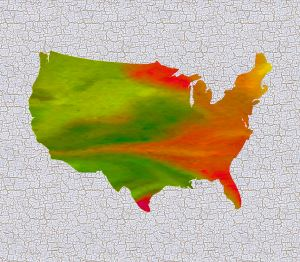 Colorful Art USA Map
