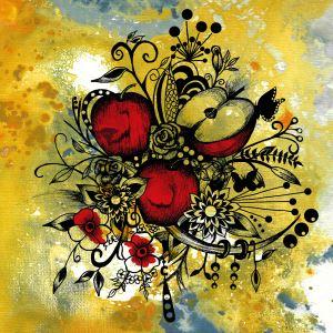 Abstract Acrylic Painting APPLES II
