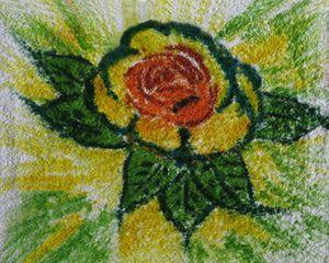 Rose on a Washcloth
