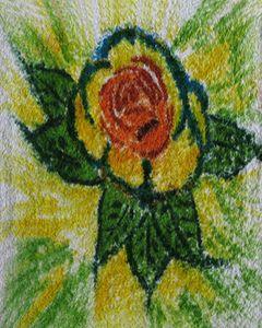 Flower on Washcloth