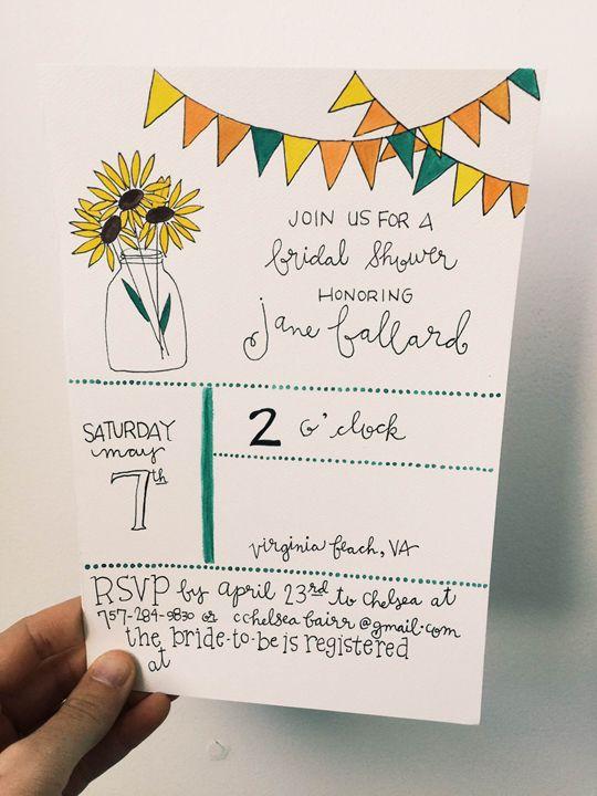 Bridal Shower Invite (can be custom) - Chelsea Bair