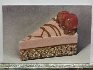 'Cake with cherries' still life
