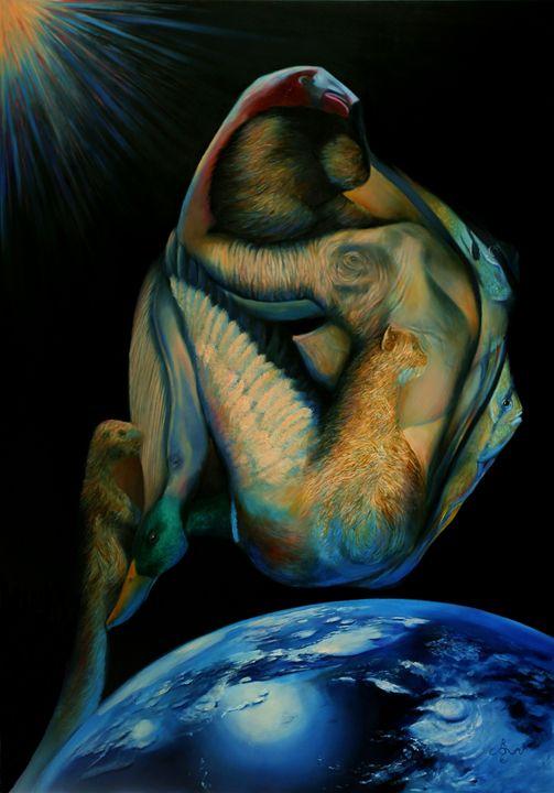Gaia - 16-03-16 (sold) - Corné Akkers art works
