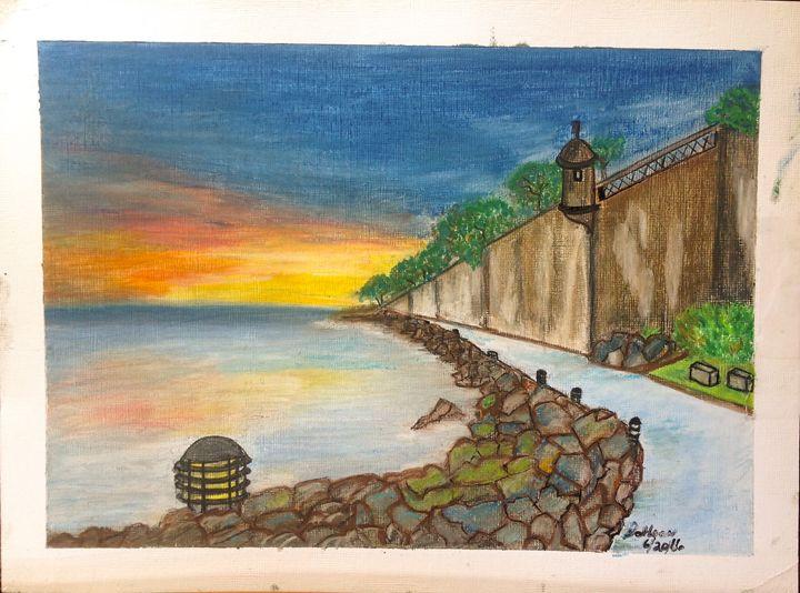 The wall of El Morro, San Juan, P.R. - Dahleen
