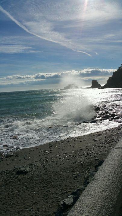 Happy seas of Almunecar Spain - Dahleen