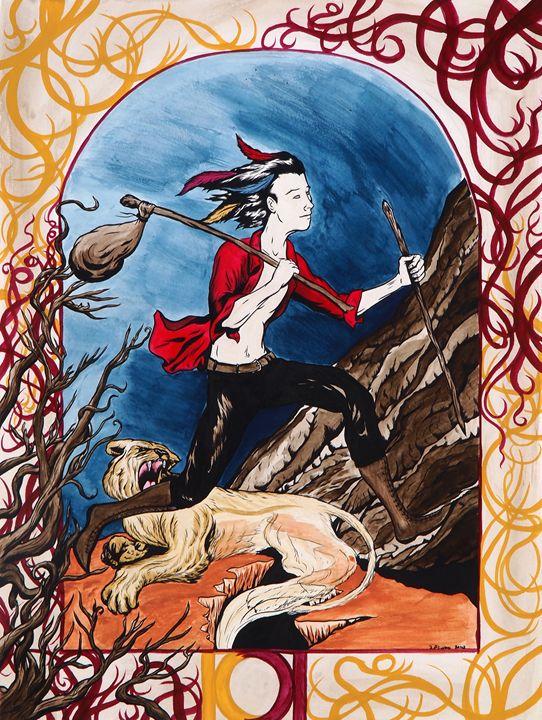 0 The Fool - Tarot Devil