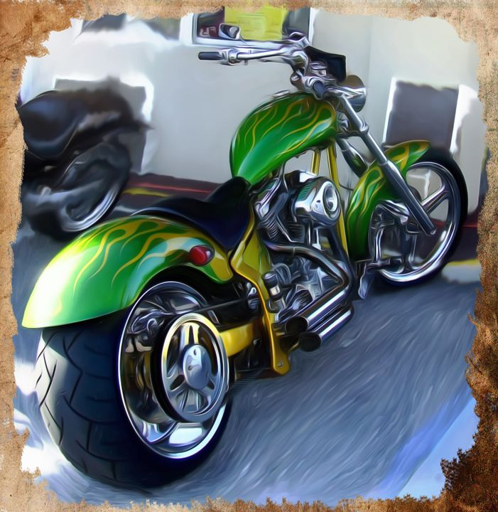 Custom Bike art - David Jones