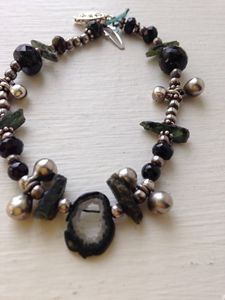 Mixed Gemstone Bracelet -Real Silver