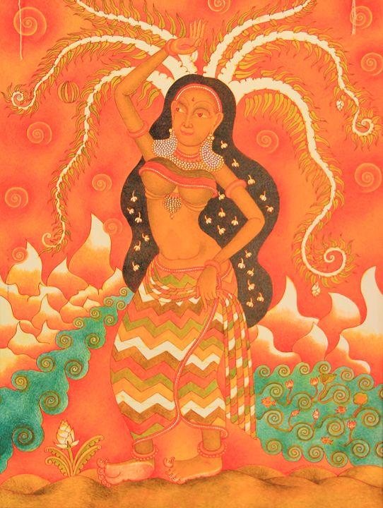 MOHINI- THE FAIR LADY PLAYING BALL - muralkerala