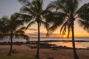 Sharks Cove Sunset 4 - Oahu Hawaii