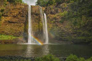 Wailua Falls Double Rainbow